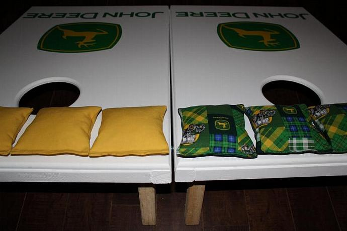 Enjoyable Cornhole Set John Deere Bean Bag Game With 8 Lots2Ofr2 Spiritservingveterans Wood Chair Design Ideas Spiritservingveteransorg