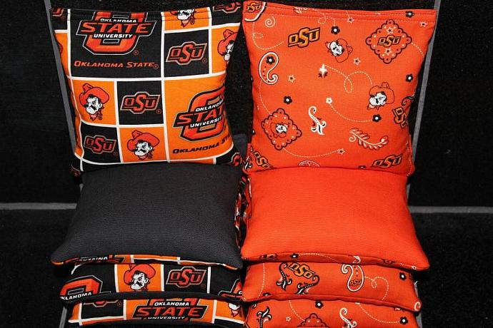 OSU OKLAHOMA STATE Cowboys Cornhole Bean Bags 8 ACA Regulation Corn Hole Bags