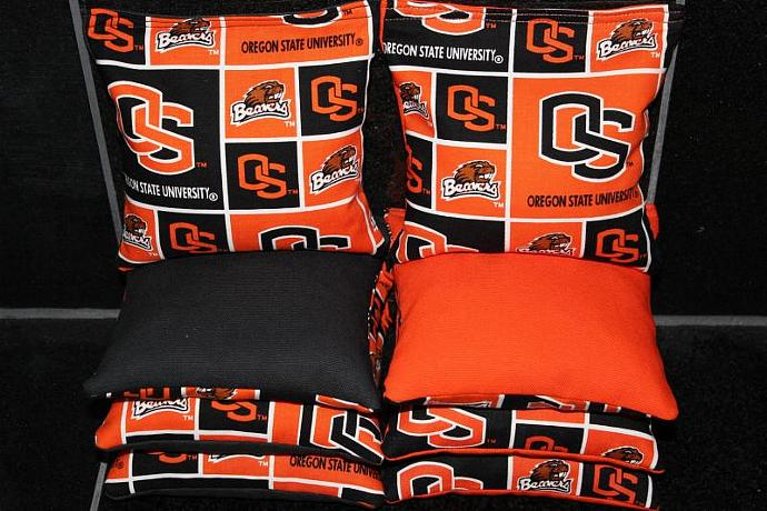 OREGON STATE Beavers Cornhole Bean Bags 8 ACA Regulation Corn Hole Bags Baggo