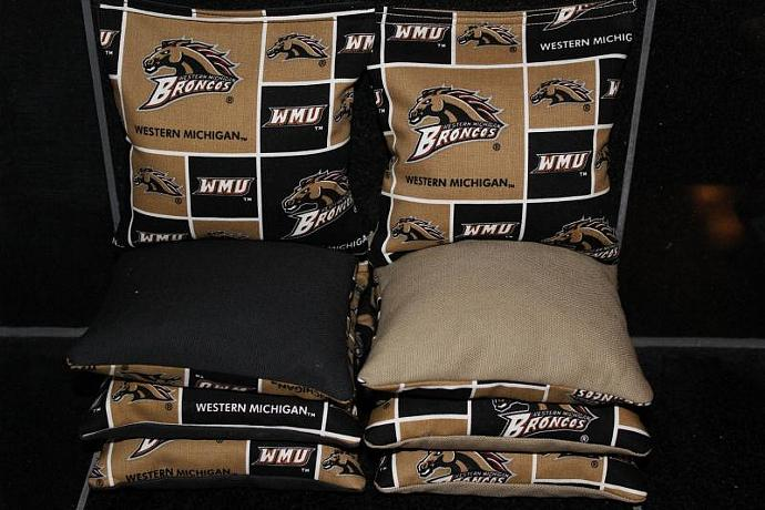WESTERN MICHIGAN Broncos Cornhole Bean Bags 8 ACA Regulation Corn Hole Bags