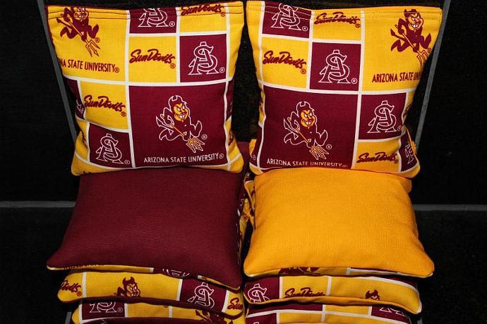 ARIZONA SUN DEVILS Cornhole Bean Bags 8 ACA Regulation Corn Hole Bags Baggo Toss
