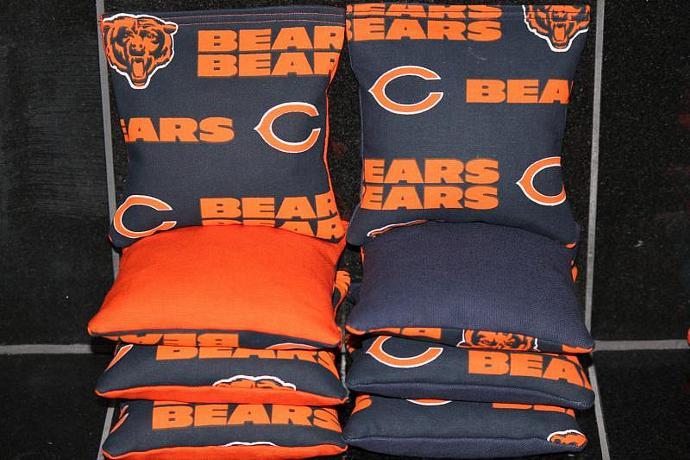 CHICAGO BEARS Cornhole Bean Bags 8 ACA Regulation Corn Hole Bags Baggo Toss