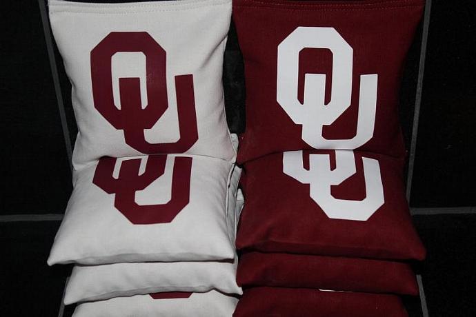OU Oklahoma Sooners Cornhole Bean Bags 8 ACA Regulation Size Corn Hole Bags