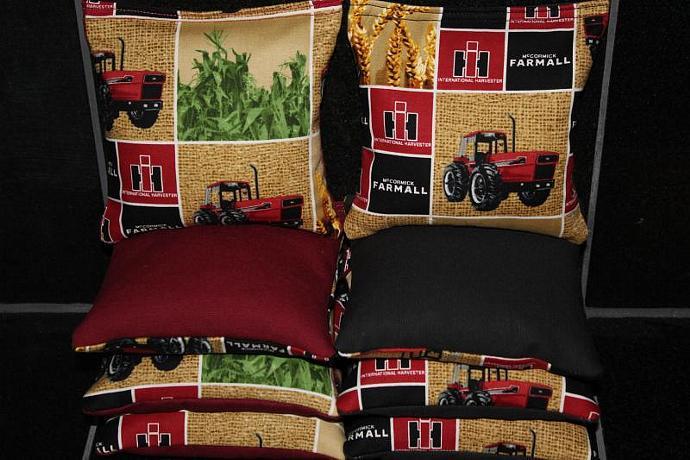 INTERNATIONAL HARVESTER Farmall Cornhole Bean Bags 8 ACA Regulation Corn Hole