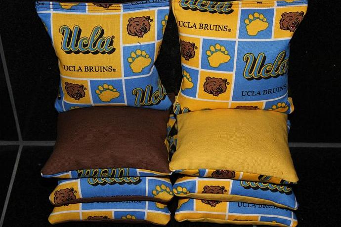 UCLA BRUINS 8 Top Quality Custom Handmade ACA Regulation Size Cornhole Bean Bags