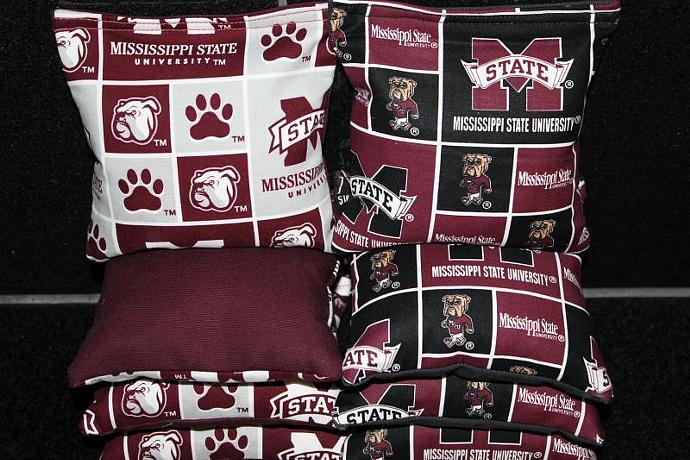 MISSISSIPPI STATE Bulldogs 8 Top Quality Custom Handmade ACA Regulation Size