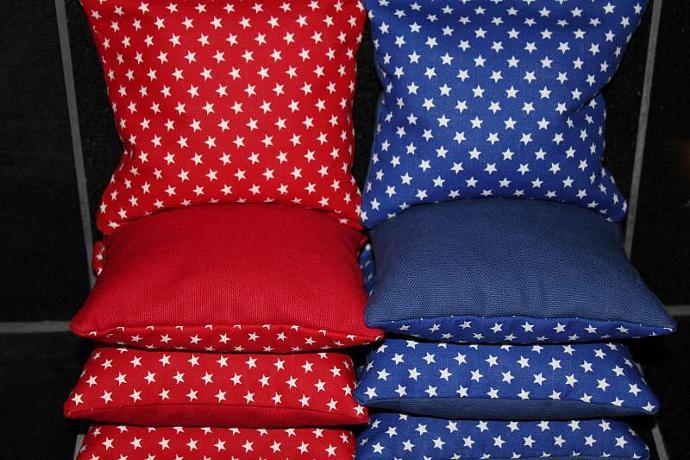 PATRIOTIC American Flag Stars 8 Top Quality Custom Handmade ACA Regulation Size