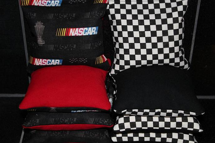 NASCAR RACING Cornhole Bean Bags 8 ACA Regulation Corn Hole Bags Baggo Toss