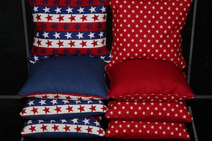 PATRIOTIC American Flag Stars 8 Top Quality Custom Handmade ACA Regulation Size