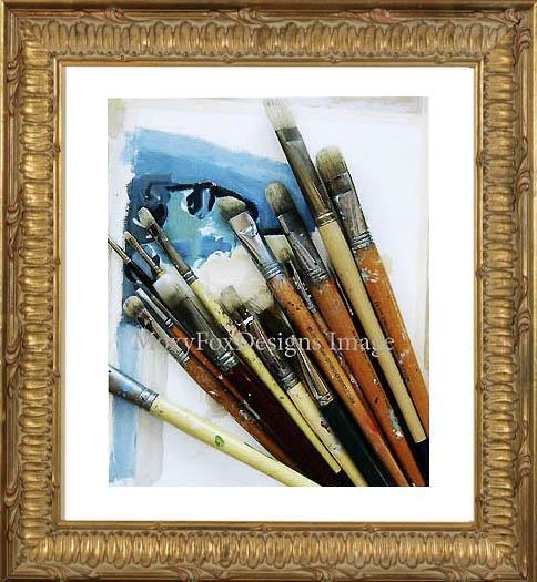 Card - PAINT BRUSHES  Fine Photo Greeting Card Free US Shipping