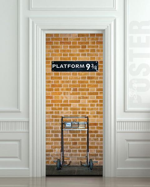 Wall Door STICKER harry potter platform 9 3/4 mural decole film poster