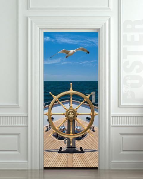 Wall Door STICKER ship bow sea yacht gull rudder mural decole film poster