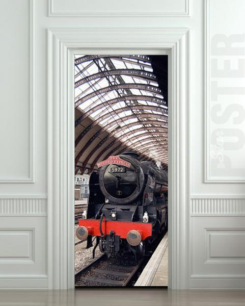 Wall Door STICKER harry potter hogwarts express train mural decole film poster & Wall Door STICKER harry potter hogwarts express by pulaton on Zibbet