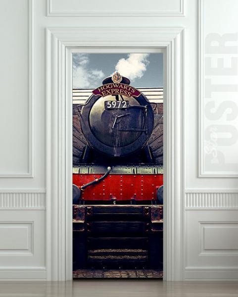 Wall Door STICKER harry potter hogwarts express train mural decole film poster