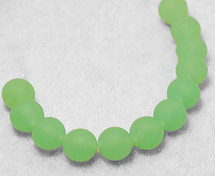 Sea Mint- recycled sea glass beads