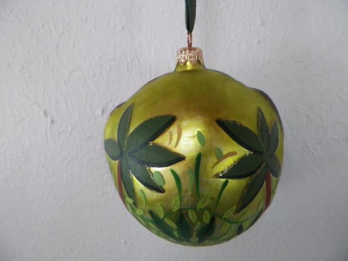 Monkey Head Glass Ornament