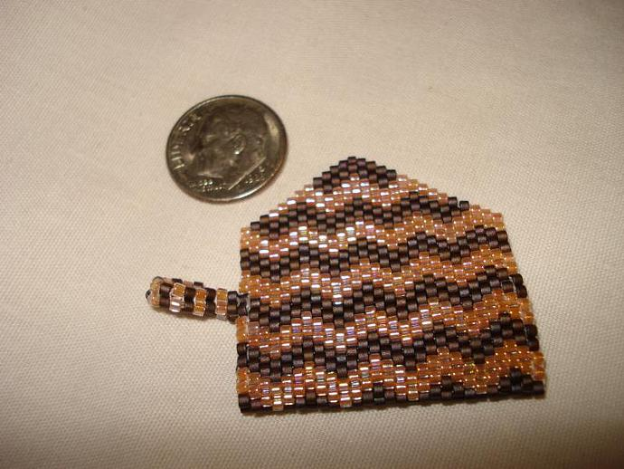 Bead Mini Clutch Pendant - Chevron