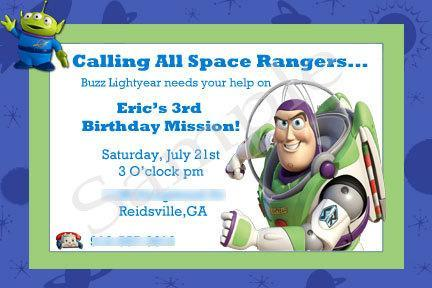 Buzz Lightyear Toy Story Printable – Buzz Lightyear Birthday Card