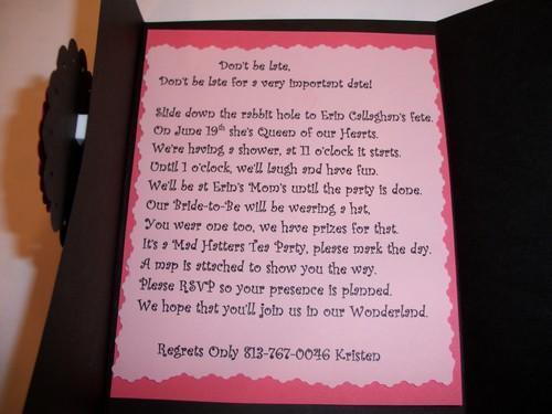 10ct  Tri Fold Invitation Cards / Sample shown