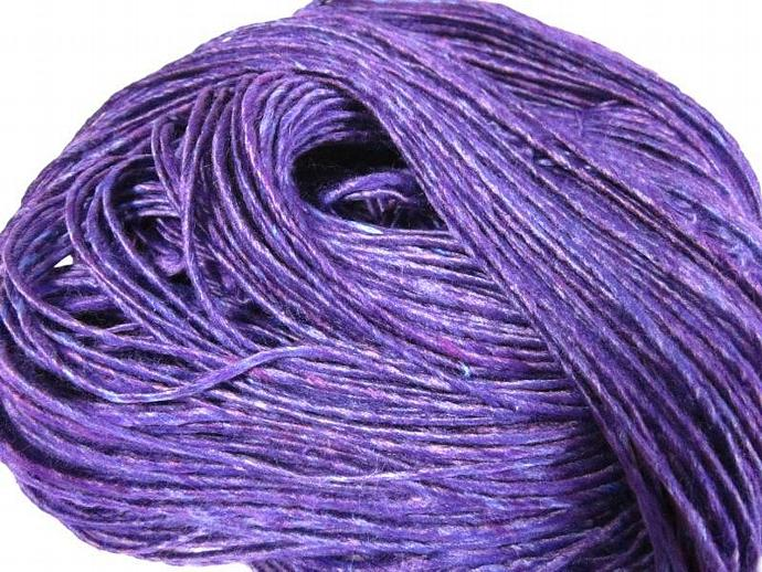 Vegan Handspun Purple Bamboo Single-ply Yarn