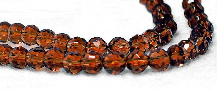 Amber Gold- faceted Czech crystals