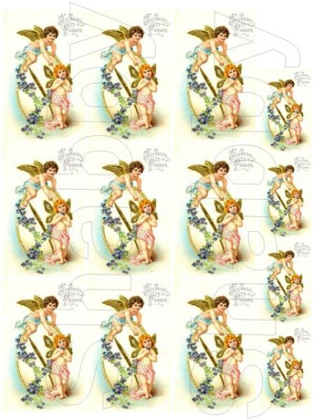 Shabby Chic Vintage Easter digital collage sheet for scrapbook and cards  DC370