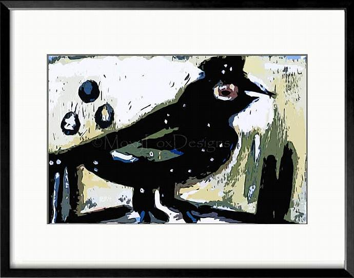 Art – COCKY CROW – Limited Edition  FREE US Shipping
