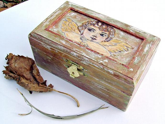 Jewelry BoxKeepsakes BoxTrinket BoxTreasure By Modern40 On Zibbet Fascinating How To Decorate Wooden Boxes