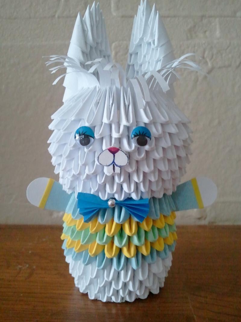 3d origami bunny boy by akvees on zibbet jeuxipadfo Gallery