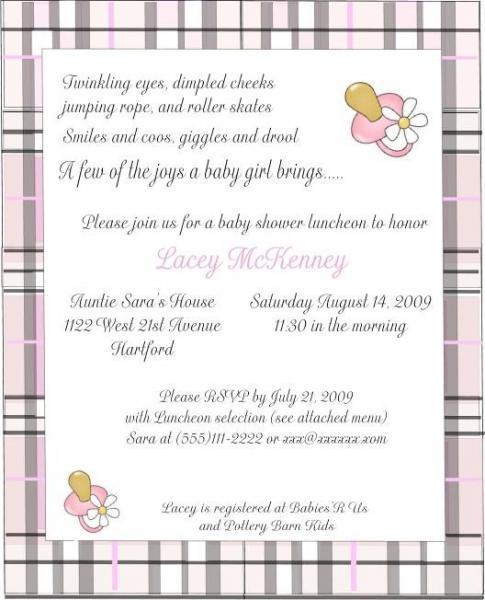 Burberry inspired baby shower invitations- Customi