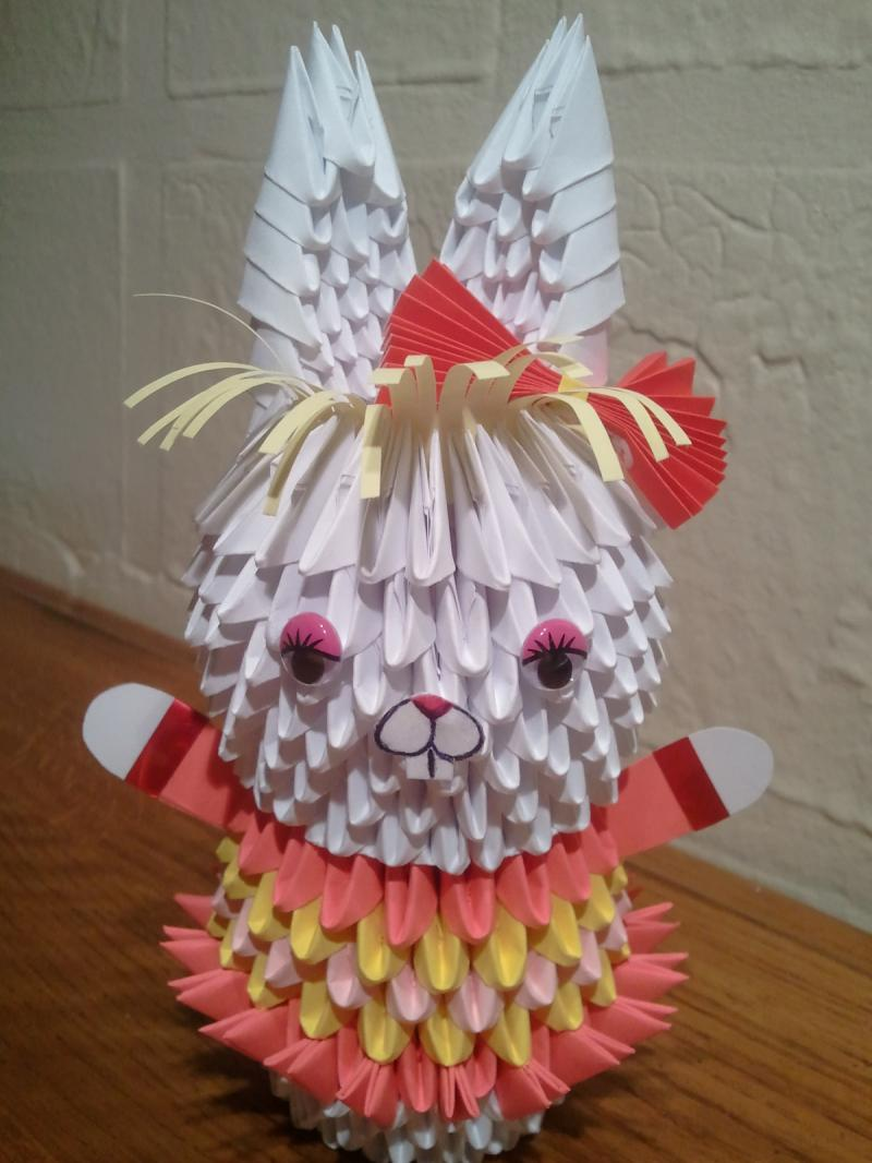 3d origami bunny girl by akvees on zibbet jeuxipadfo Gallery