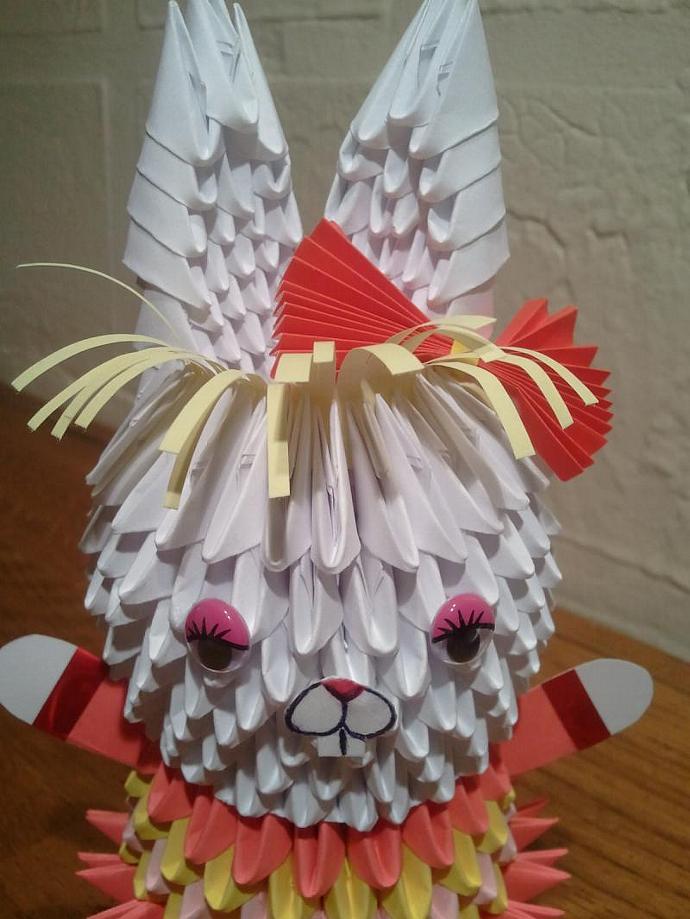 3D origami Bunny (girl)