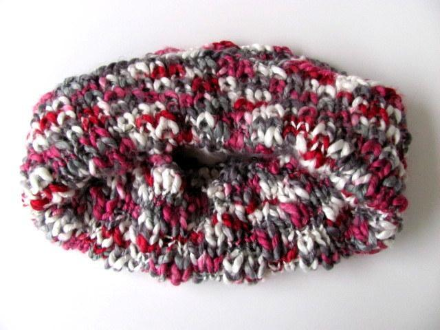 Raspberry and Slate Cowl