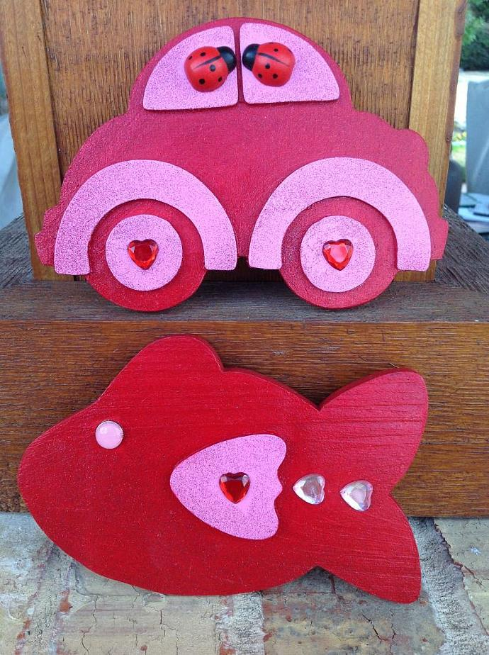 Love Magnets - Volkswagen Bug & Love Fish