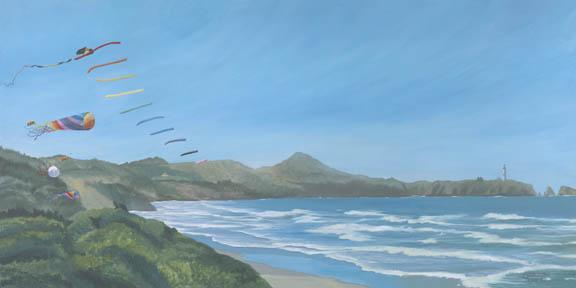"""Moolack Beach"" Giclee Paper Print by Carol Thompson"