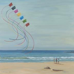 """Summer Kites"" Giclee Paper Print by Carol Thompson"