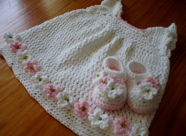 Baby Dress and Shoe Set