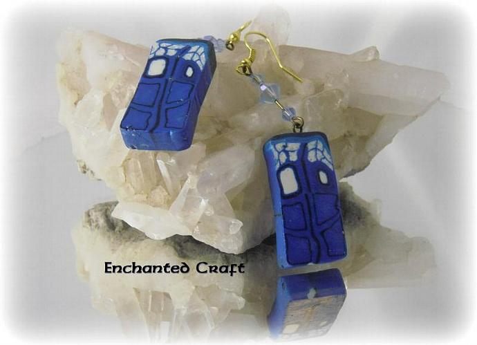 Dr Who earrings TaRdiS spinning through time and space