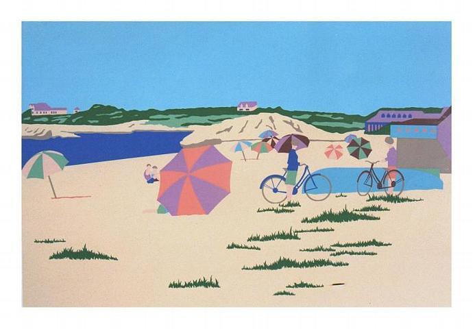 Cape Cod Silkscreen vintage print Bailey's Beach Rhode Island