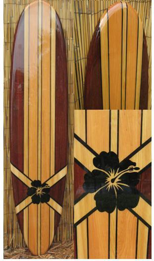 6ft Decorative Surfboard Wall Art with | TikiSoulSurfboards