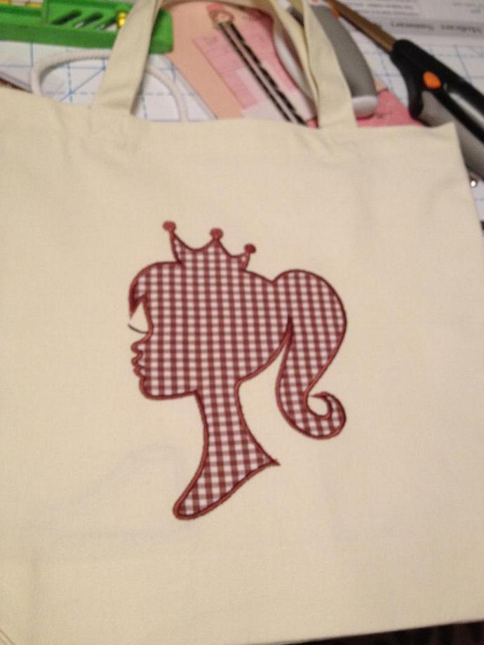 GINGHAM SILHOUETTE tote bag