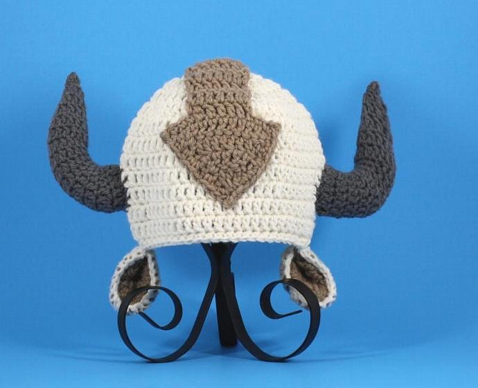 Appa The Flying Bison Hat Beanie By Cutiehats On Zibbet