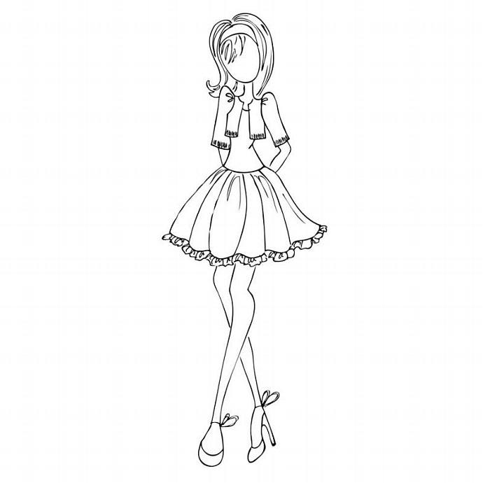 10% OFF! Prima Mixed Media Doll w/bolero Cling Rubber Stamp by Julie Nutting