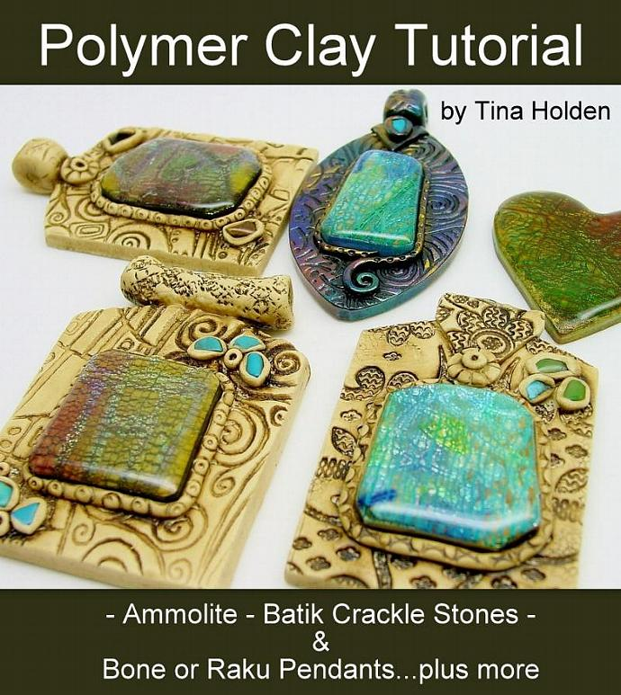 Ammolite and crackle veneers with pendants beadcomber ammolite and crackle veneers with pendants polymer clay tutorial digital pdf aloadofball Gallery
