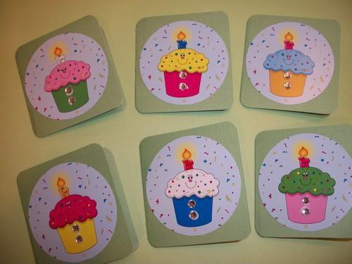 Cupcake Birthday Thank you / note cards