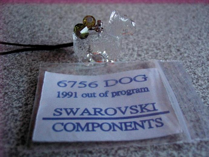 Swarovski VINTAGE Crystal Pendant, 20mm Scottie Do