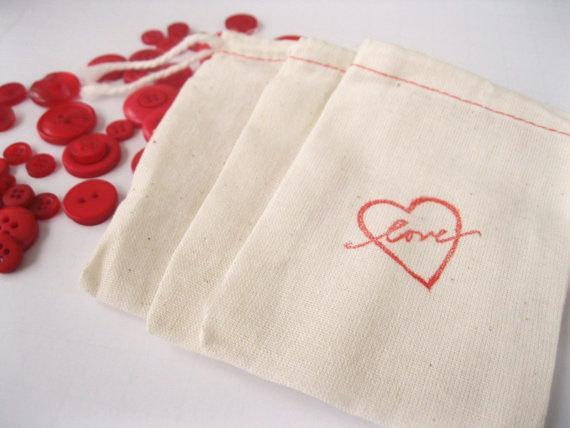 Hearts and Love Hand Carved Rubber Stamp, Handmade Love Stamp