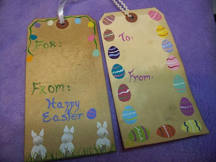 Easter Gift Tags Bunny and Egg