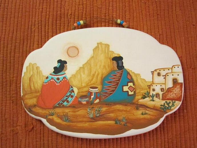 E-WA-98  HOPI WOMEN PLAQUE