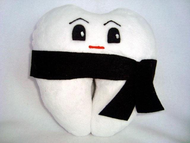 Karate -My Tooth Buddy-Originally designed tooth fairy pillows - New Reduced